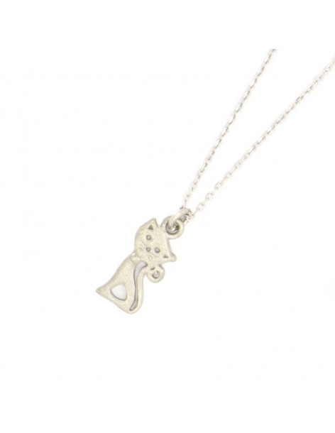 Silver Necklace with cat GATOULA