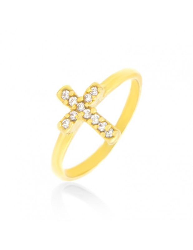 Ring silver gold plated STAYRO