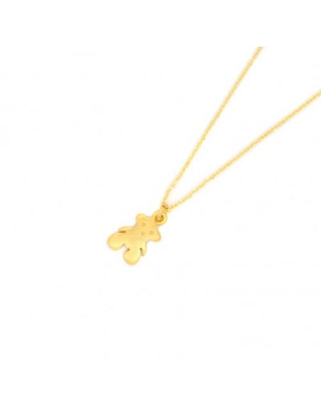 Ασημένιο Κολιέ με αρκούδα χρυσό BEAR