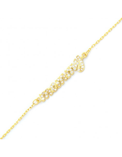Bracelet mommy of silver 925 gold plated MM