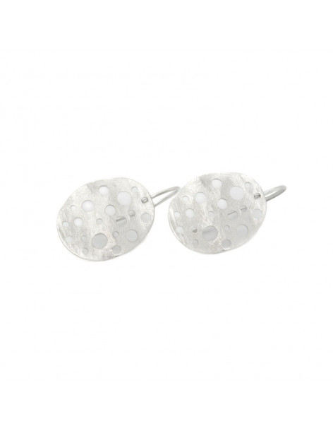 Ohrringe aus Bronze handgemacht silber IDUN