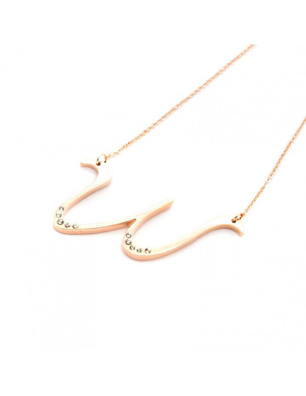 Necklace rose gold WAVE