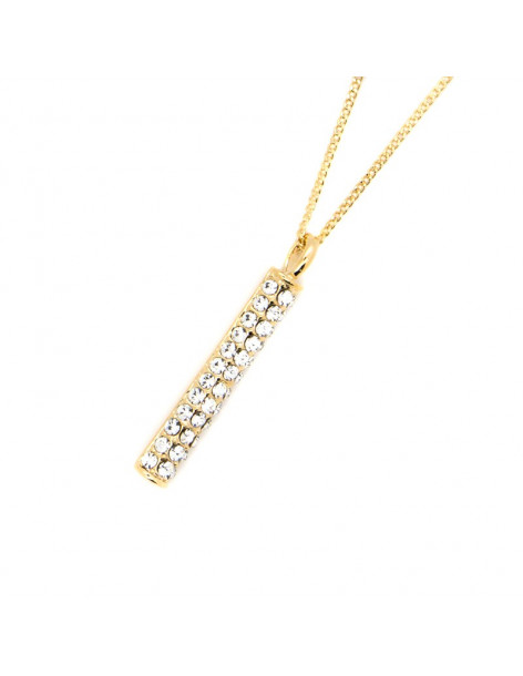 Necklace with crystals gold POLE