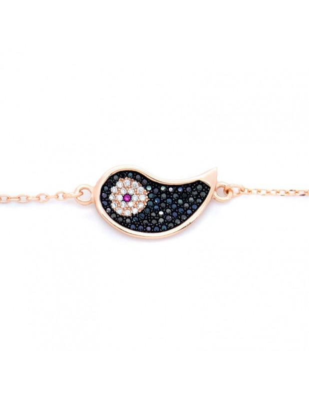 Nazar Armband aus 925 Silber rosegold GLOVI