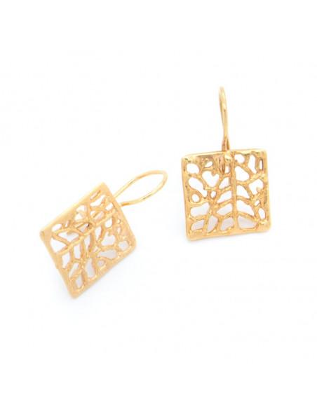 Handgefertigte Ohrringe aus vergoldeter Bronze O20140508