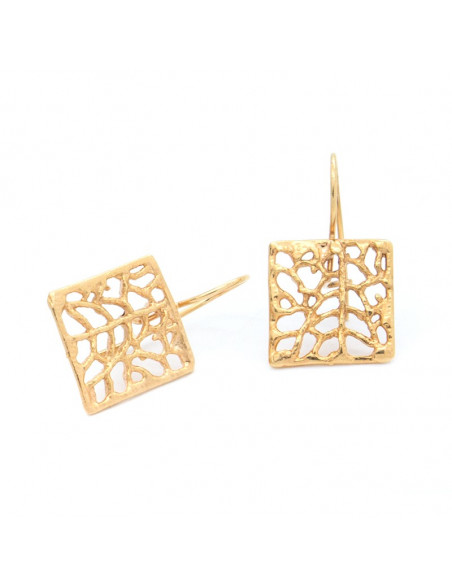 Handcrafted earrings from gold plated bronze O20140508