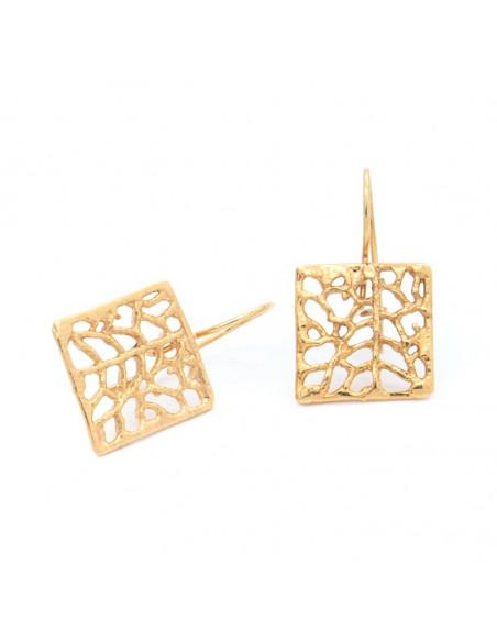 Χειροποίητα σκουλαρίκια από επίχρυσο μπρούτζο O20140508
