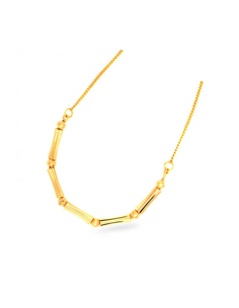 Necklace gold plated CORD