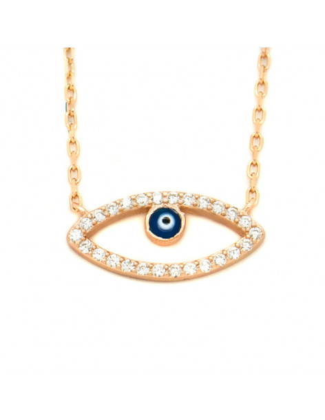 Necklace with nazar silver 925 rose gold NAXOS