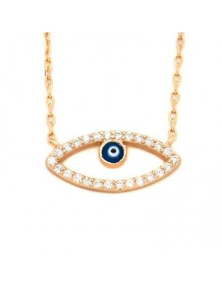 Halskette mit Nazar Silber 925 rose gold NAXOS