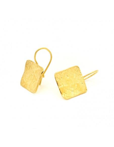 Σκουλαρίκια αρχαιοελληνικό επίχρυσο LARI