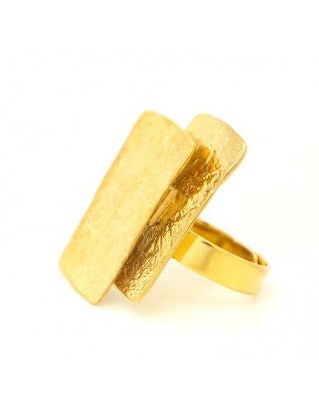 Δαχτυλίδι από επίχρυσο σφυρήλατο μπρούτζο HUB R20140602