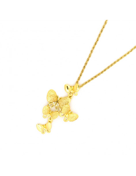 Necklace gold plated BUTTERFLY