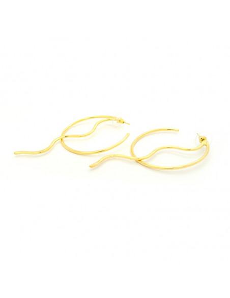 Round earrings of handmade bronze gold SEITE