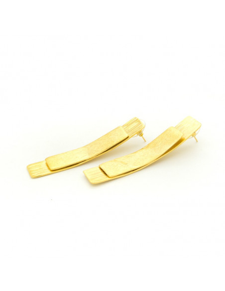 Earrings of bronze gold BALDUR