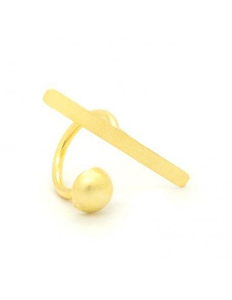 Ring of bronze minimal gold TIM 3
