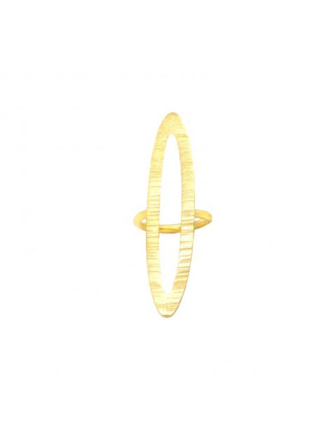 Statement ring of gold plated bronze ALVARA