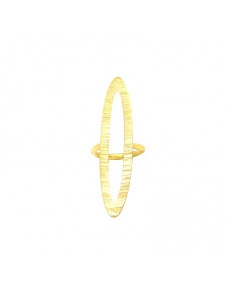 Statement Ring aus vergoldeter Bronze ALVARA