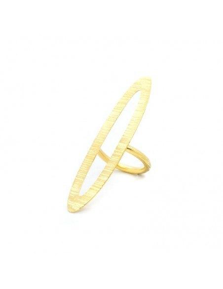 Statement ring of gold plated bronze ALVARA 3