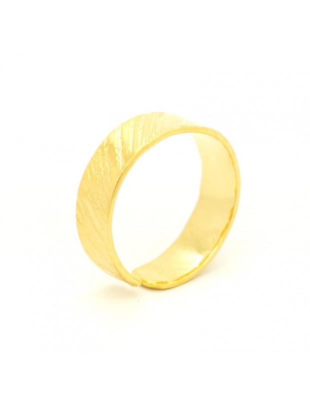 Δαχτυλίδι από μπρούτζο χειροποίητα χρυσό ERIS