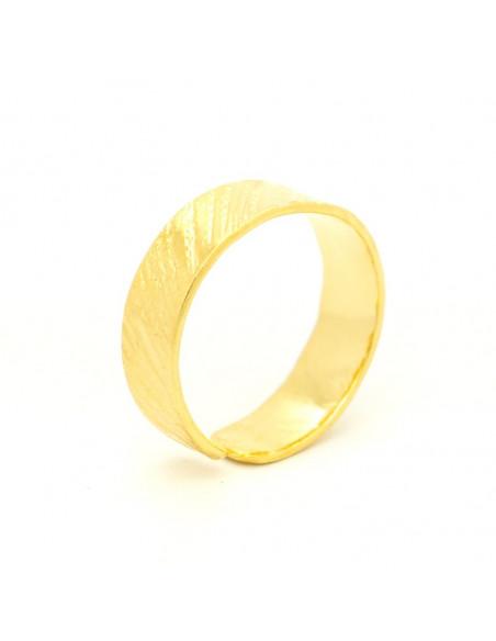 Ring aus Bronze handgemacht gold ERIS