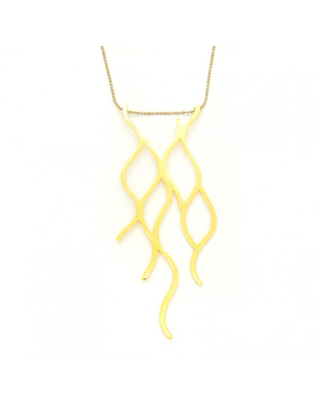Necklace with chain and big gold plated bronze element RUXO H20140634