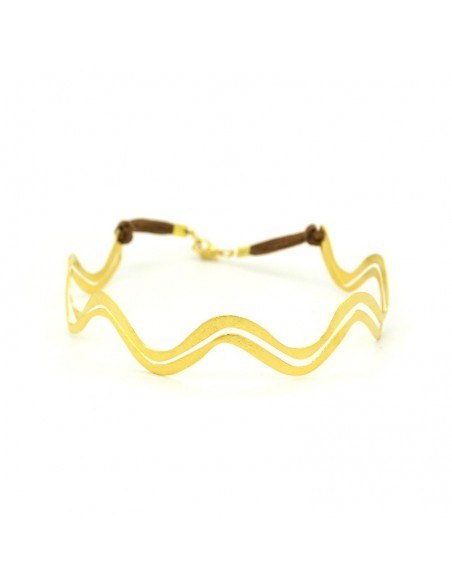 Choker necklaces from gold plated bronze ELLA H20140647