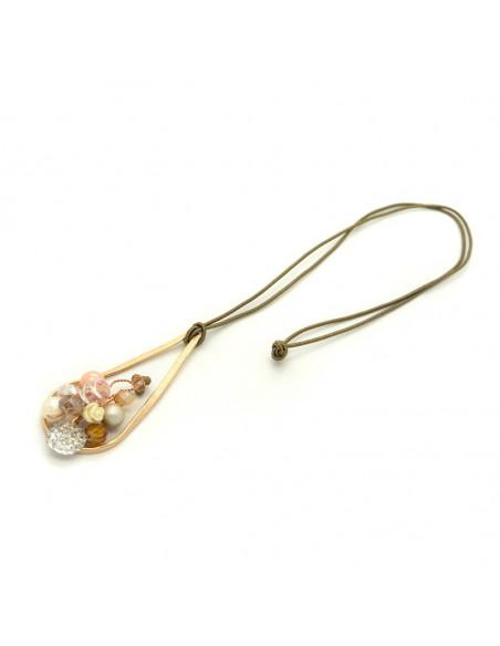 Lange Bronze Halskette rosegold HOLA 3