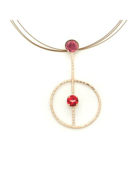 Statement Necklace of bronze rosegold MEDUSA