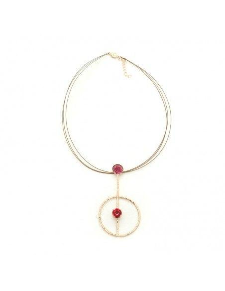 Statement Necklace of bronze rosegold MEDUSA 3