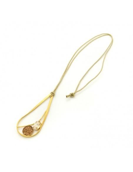 Lange Halskette aus Bronze gold HUST 3