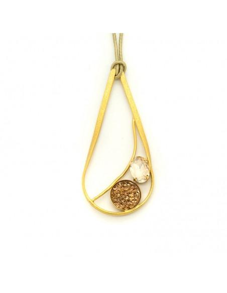Lange Halskette aus Bronze gold HUST
