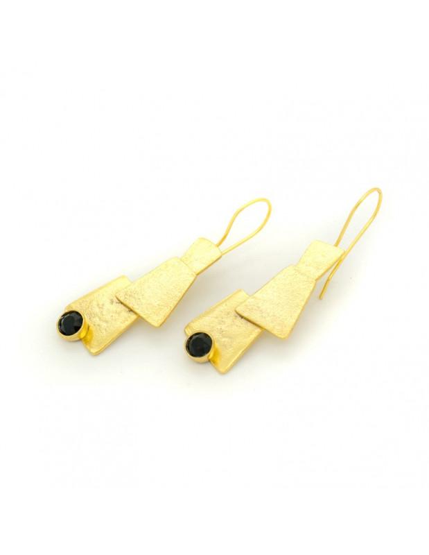 Σκουλαρίκια από μπρούτζο χρυσό LUCCA
