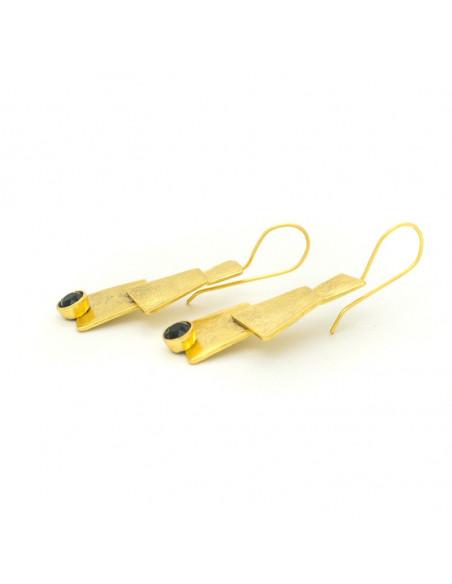 Σκουλαρίκια από μπρούτζο χρυσό LUCCA 3
