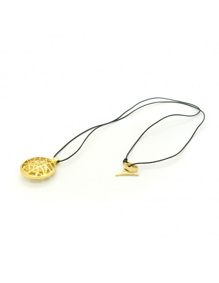 Long Bronze Necklace gold ALLY 3