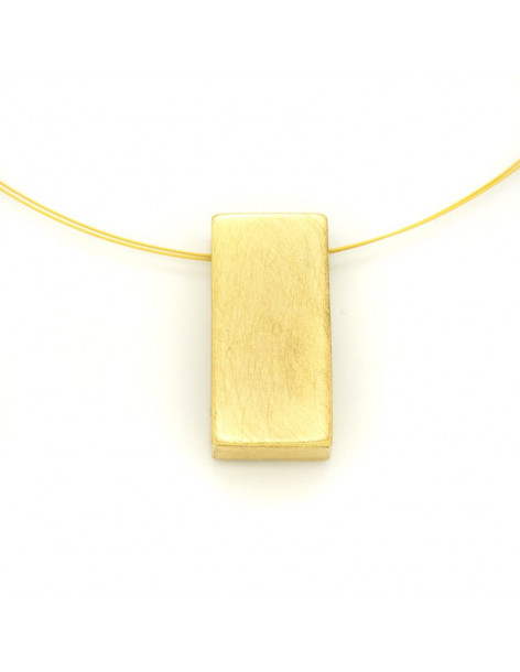 Statement Necklace of bronze gold CUBE