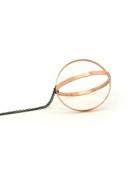 Lange Bronze Halskette rosegold LERI