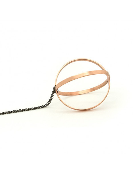 Long Bronze Necklace rose gold LERI