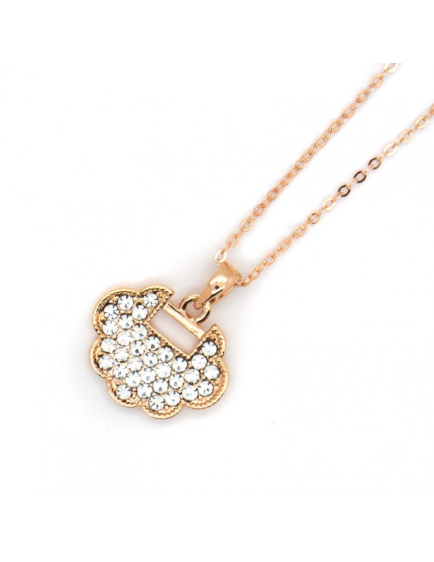 Necklace with crystals rose gold LUI