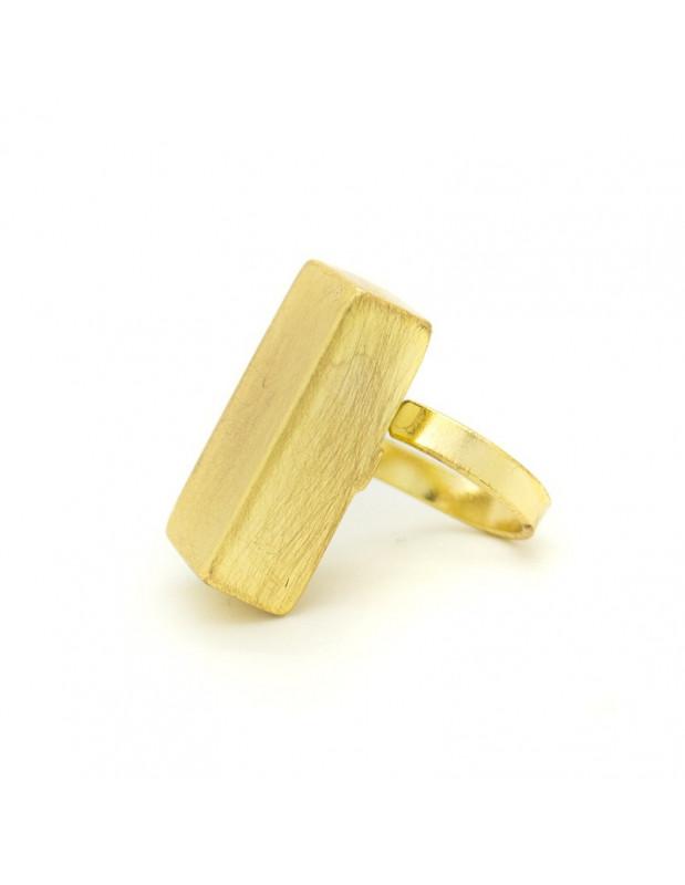 Μεγάλο δαχτυλίδι από μπρούτζο χειροποίητο χρυσό KAIRO