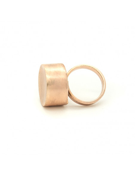 Statement ring from rose gold plated brushed bronze TANIS R20140631