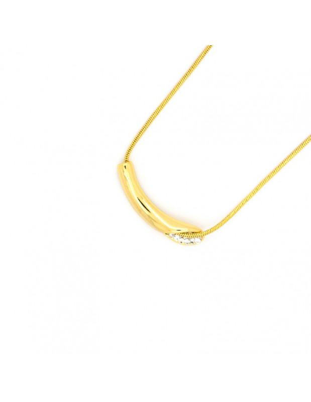 Halskette mit Zirkonia Steinen gold ILLE