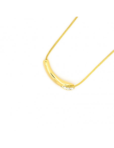 Necklace with crystals gold plated ILLE