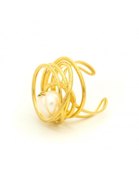 Ring mit echter Perle gold DISO 3