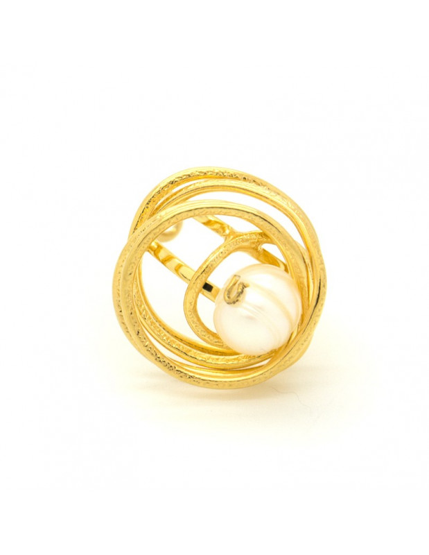 Ring with Pearl gold DISO