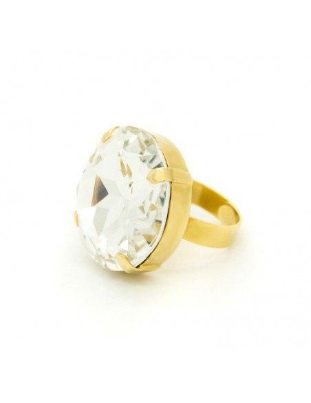 Statement Ring mit großem Zirkon gold TELIV 2