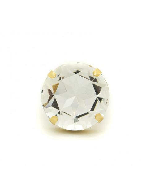 Μεγάλο δαχτυλίδι με ζιργκόν χρυσό TELIV