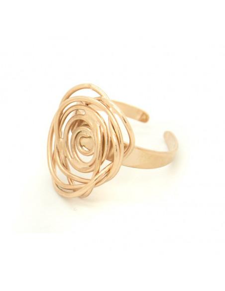 Δαχτυλίδι χειροποίητο ροζ χρυσό TAFE 2