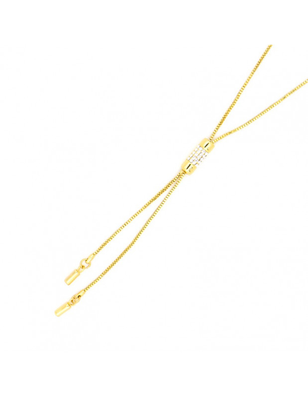 Κολιέ με ζιργκόν χρυσό TIE II