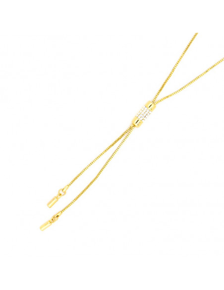 Necklace with crystals gold plated TIE II